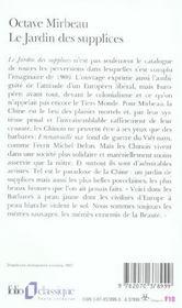 Le jardin des supplices - 4ème de couverture - Format classique