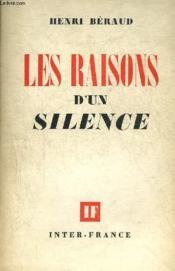 Les Raisons D'Un Silence. - Couverture - Format classique