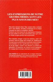 365 expressions préférées de notre grand-mère - 4ème de couverture - Format classique