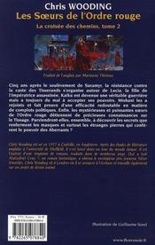 La croisée des chemins t.2 ; les soeurs de l'ordre rouge - 4ème de couverture - Format classique