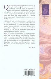 Manuel elementaire de droit constitutionnel - 4ème de couverture - Format classique