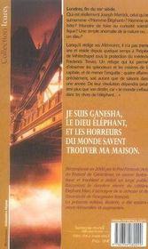 Ganesha ; mémoires de l'homme-éléphant - 4ème de couverture - Format classique