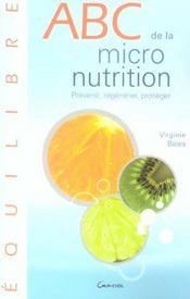 ABC de la micronutrition - Intérieur - Format classique