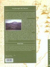 Les paysages du caucase. invention d une montagne - 4ème de couverture - Format classique