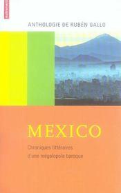 Mexico ; chroniques littéraires d'une mégalopole baroque - Intérieur - Format classique