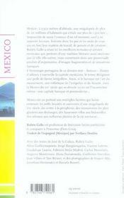Mexico ; chroniques littéraires d'une mégalopole baroque - 4ème de couverture - Format classique