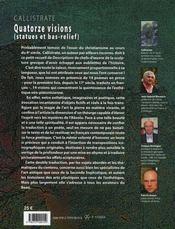 Quatorze visions ; statues et bas-relief - 4ème de couverture - Format classique