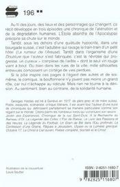 Chute De L'Etoile Absinthe - 4ème de couverture - Format classique