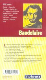 Baudelaire - 4ème de couverture - Format classique