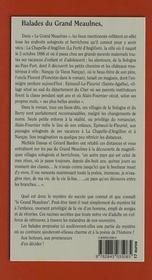 Balades au pays du Grand Meaulnes en Sologne et en Berry - 4ème de couverture - Format classique