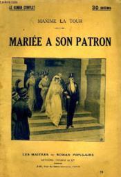 Mariee A Son Patron. - Couverture - Format classique