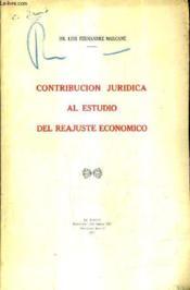 Contribucion Juridica Al Estudio Del Reajuste Economico (Plaquette). - Couverture - Format classique