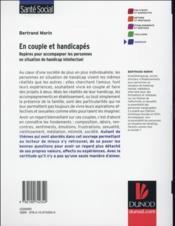 En couple et handicapés - 4ème de couverture - Format classique