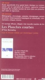 Les Planches Courbes Dyves Bonnefoy Dominique Combe