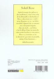 Soleil rose - 4ème de couverture - Format classique