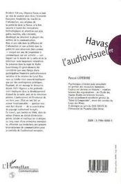 Havas Et L'Audiovisuel 1920-1986 - 4ème de couverture - Format classique