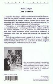 Lire L'Image ; Emission Reception Interpretation Des Messages Visuels - 4ème de couverture - Format classique