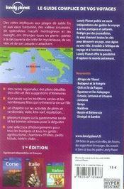 Sardaigne - 4ème de couverture - Format classique