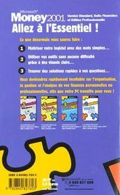 Money 2001. Version Standard, Suite Financière Et Édition Professionnelle - 4ème de couverture - Format classique