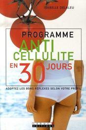 Programme anti-cellulite en 30 jours - Intérieur - Format classique