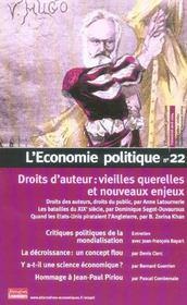 L'Economie Politique N.22 ; Droits D'Auteur: Vieilles Querelles Et Nouveaux Enjeux - Intérieur - Format classique
