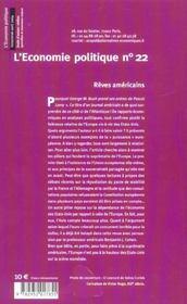 L'Economie Politique N.22 ; Droits D'Auteur: Vieilles Querelles Et Nouveaux Enjeux - 4ème de couverture - Format classique