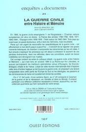 Revue enquetes et documents t.21 ; la guerre civile ; entre histoire et memoire - 4ème de couverture - Format classique