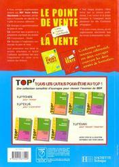 Les Detachables ; La Vente Bep 2e-Terminale Pro ; Eleve - 4ème de couverture - Format classique
