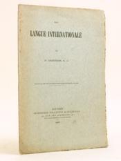 La langue internationale. - Couverture - Format classique
