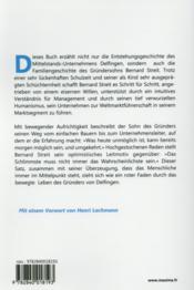 Vom dorfbauern zum weltmarktfuhrer - 4ème de couverture - Format classique