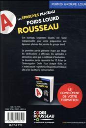Code Rousseau ; les épreuves plateau poids lourd Rousseau (édition 2018) - 4ème de couverture - Format classique