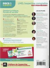 DSCG 1 : gestion juridique, fiscale et sociale ; manuel (édition 2021/2022) - 4ème de couverture - Format classique