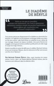 Le diadème de béryls - 4ème de couverture - Format classique