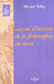 Lecons d'histoire de la philosophie du droit - Intérieur - Format classique