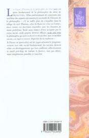Lecons d'histoire de la philosophie du droit - 4ème de couverture - Format classique