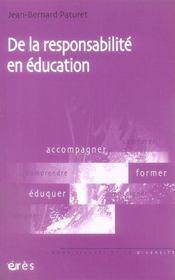 De la responsabilité en éducation - Intérieur - Format classique