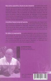 De la responsabilité en éducation - 4ème de couverture - Format classique