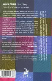 Habitus - 4ème de couverture - Format classique