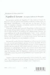 Napoleon et sarzane - 4ème de couverture - Format classique