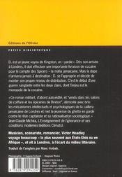 Yardie - 4ème de couverture - Format classique