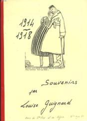 Souvenirs. 1914-1918 - Couverture - Format classique