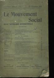 Le Mouvement Social - Revue Catholique Internationale - Couverture - Format classique