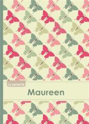 Carnet Maureen Lignes,96p,A5 Papillonsvintage - Couverture - Format classique