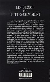 Le guignol des buttes-chaumont - 4ème de couverture - Format classique