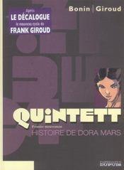 Quintett t.1 ; histoire de Dora Mars - Intérieur - Format classique