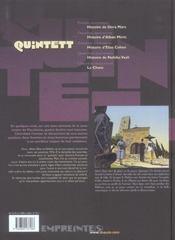 Quintett t.1 ; histoire de Dora Mars - 4ème de couverture - Format classique