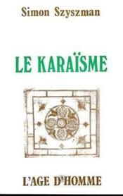 Le Karaisme - Couverture - Format classique