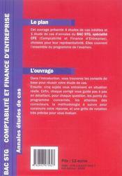 Bac Stg Comptabilite Et Finance D'Entreprise - 4ème de couverture - Format classique