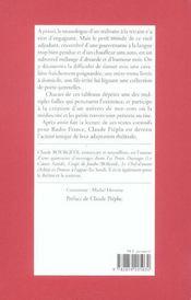 Les Petites Felures - 4ème de couverture - Format classique