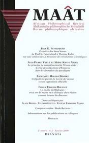 Revue Maat N.2 ; Janvier 2000 - Intérieur - Format classique